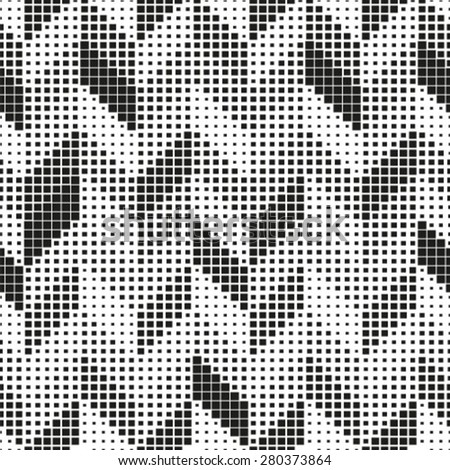 Seamless pattern. Stylish geometric texture in the form of chevron.  - stock vector