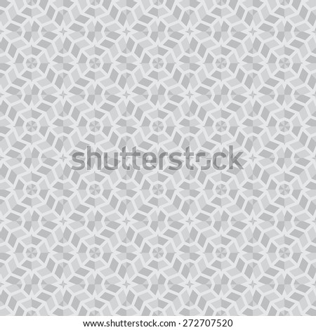 Seamless pattern. Stylish geometric texture with repeated complex polygonal shapes. Difficult polygonal mosaic. Polygon. Monochrome. Backdrop. Web. Vector background - stock vector