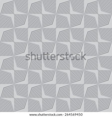 Seamless pattern. Stylish geometric texture with repeated polygonal shape. Rhombus. Diamond. Monochrome. Backdrop. Web. Vector illustration - stock vector