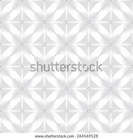 Seamless pattern. Stylish geometric texture with repeating diamonds and ellipses. Monochrome. Backdrop. Web. Vector illustration - stock vector