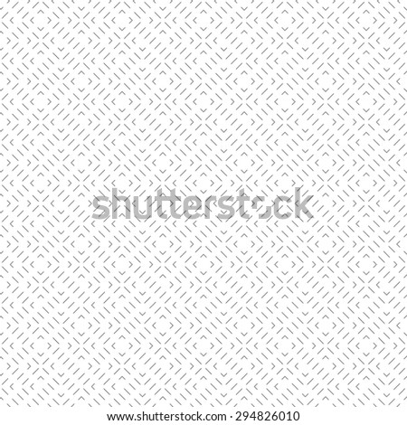 Seamless pattern. Stylish linear texture. Regularly repeating geometrical elements, shapes, dashed lines, zigzags, rhombuses. Simple linear puzzle. Backdrop. Web. Vector element of graphic design - stock vector