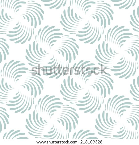 Seamless pattern. Stylish monochrome ornament. Geometric background with propellers. Vector repeating texture - stock vector
