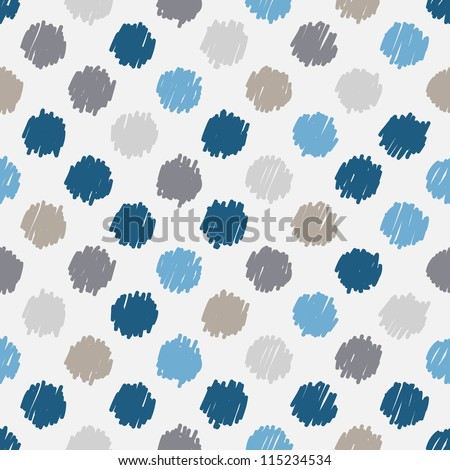 Seamless pattern, stylish polka dot texture - stock vector