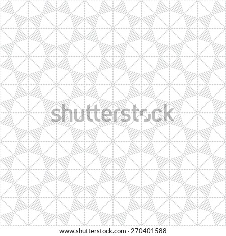 Seamless pattern. Stylish texture with small dots. Repeating geometrical shapes, rhombuses, polygons, strips, stars. Monochrome. Backdrop. Web. Vector illustration for your design - stock vector