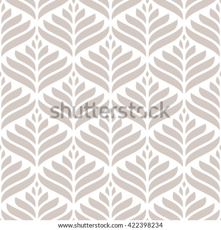 Seamless pattern. Stylized floral modern ornament. Geometric subtle background. Vector repeating texture with petalls. - stock vector
