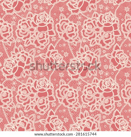 Seamless pattern stylized like laces - stock vector