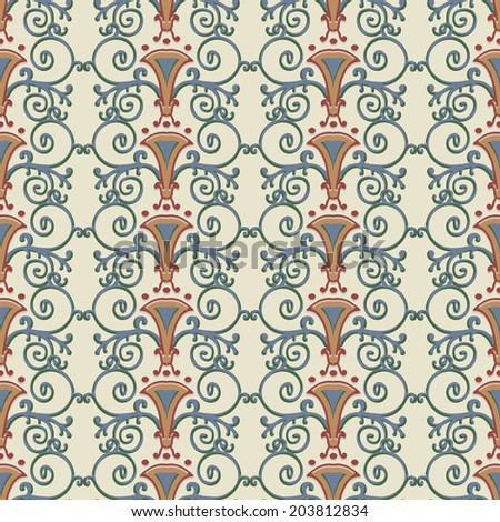 seamless pattern stylized the ancient roman vector illustration - Ancient Rome Designs