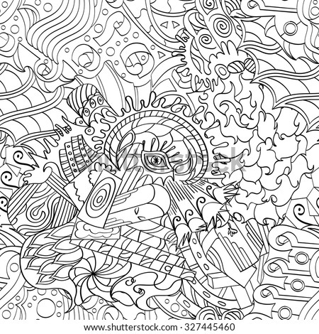 Black Abstract Cloud Drawing Spray Paint Stock Vector