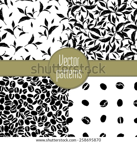 Seamless pattern tea and coffee. Vector illustration - stock vector