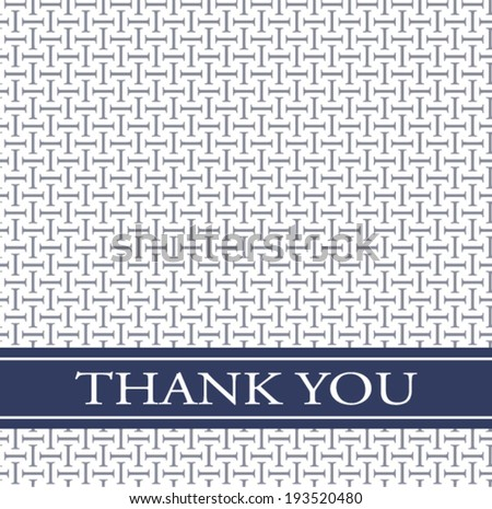 seamless pattern thank you card - stock vector