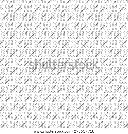 seamless pattern tic tac toe backgrounds - stock vector