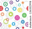 seamless pattern, tiles: color gears - stock vector