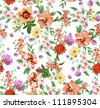 seamless pattern,tropical flowers,floralpattern,chic vectors - stock vector
