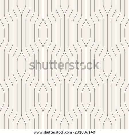 Seamless pattern. Vector abstract background. Geometric striped ornament - stock vector