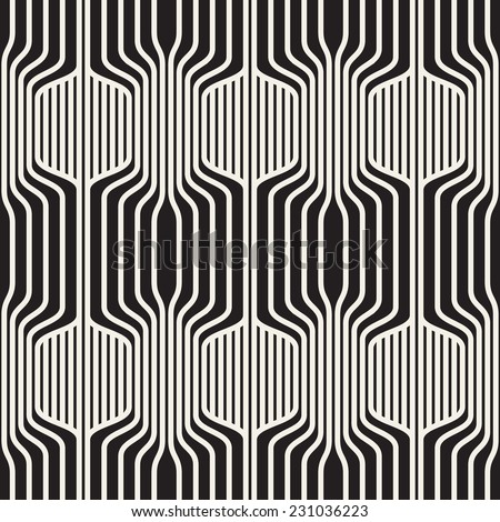 Seamless pattern. Vector abstract background. Geometric striped ornament