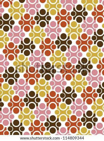 seamless pattern vector autumn color - stock vector