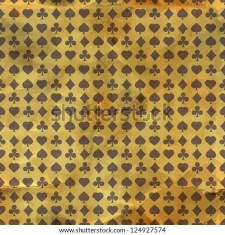 Seamless pattern. Vector gambling composition. - stock vector