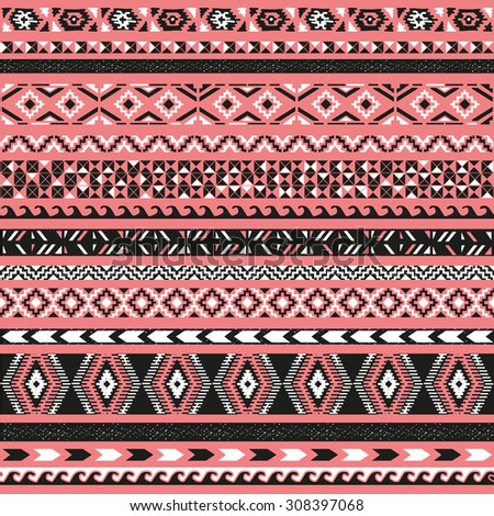 Seamless pattern. Vector illustration for tribal design. Ethnic motif.  - stock vector