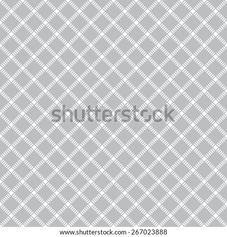 Seamless pattern. Vintage geometric texture with repeating rhombuses and squares. Dashed line. Monochrome. Backdrop. Web. Vector illustration for your design - stock vector