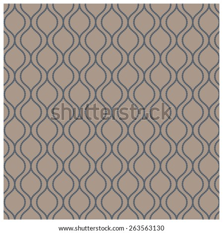 Seamless pattern - wavy dotted lines - stock vector