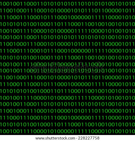 Seamless pattern with a binary code for your design - stock vector
