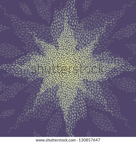 Seamless pattern with a shining star