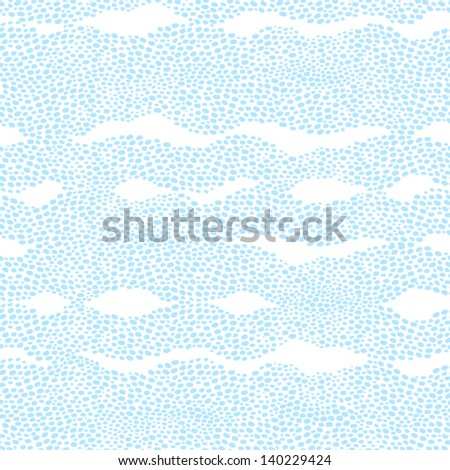 Seamless pattern with a waves from dots. Light background similar to ripples on the sea. - stock vector