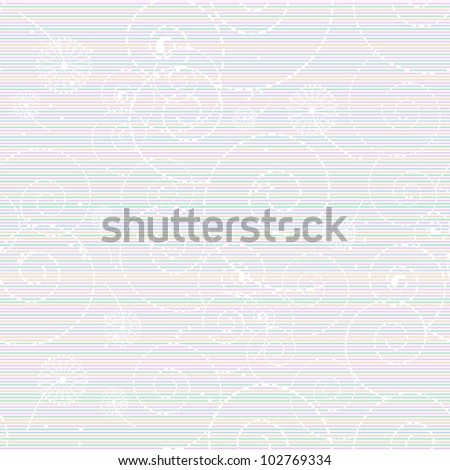 Seamless pattern with abstract  dandelions. Beautiful vector illustration. - stock vector
