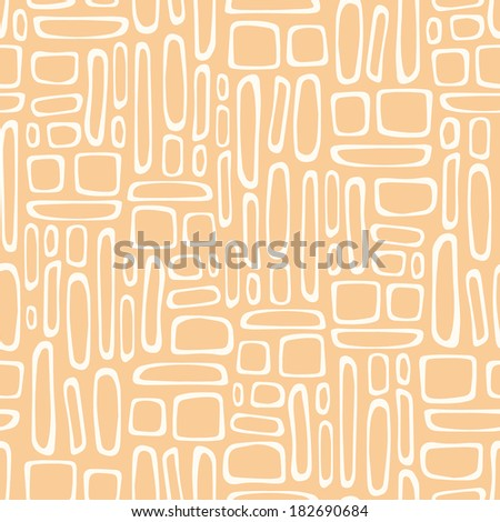Seamless pattern with abstract doodle square texture. Vector illustration - stock vector