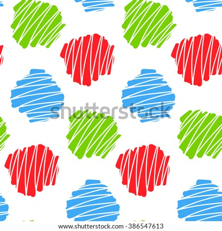 Seamless pattern with abstract element. Hand drawn. Vector illustration.