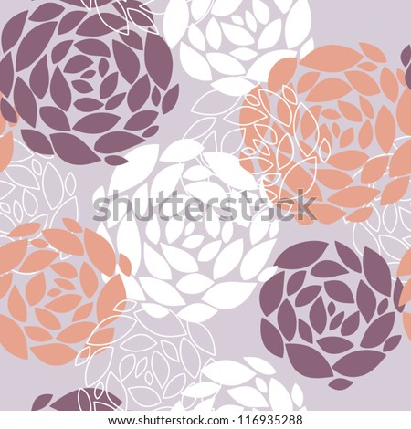 Seamless pattern with abstract elements - stock vector