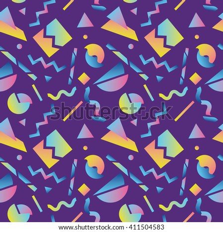 Seamless pattern with abstract geometric shapes 1