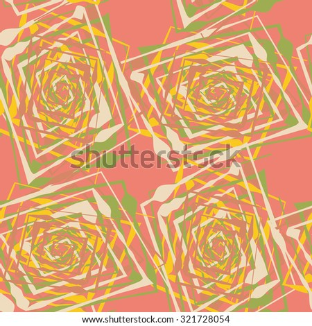Seamless pattern with abstract geometrical elements. Seamless colorful spirals. Stylish texture for different design uses. - stock vector