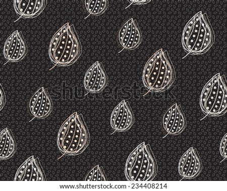 Seamless pattern with abstract leaves. EPS 10 vector file organized in layers for easy editing.   - stock vector