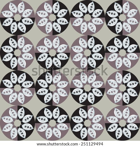Seamless pattern with abstract leaves. EPS10 vector file organized in layers for easy editing. - stock vector