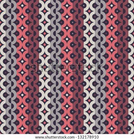 Seamless pattern with abstract stripes chains, vector background - stock vector