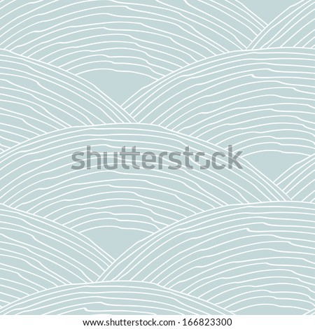Seamless pattern with abstract stylized hand drawn scale texture. Neutral background. Vector illustration - stock vector