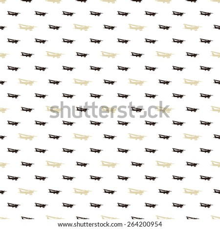 seamless pattern with airplane  - stock vector