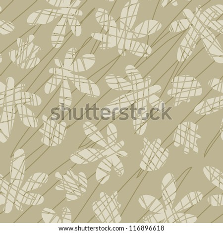 Seamless pattern with autumn leaves. Vector illustration