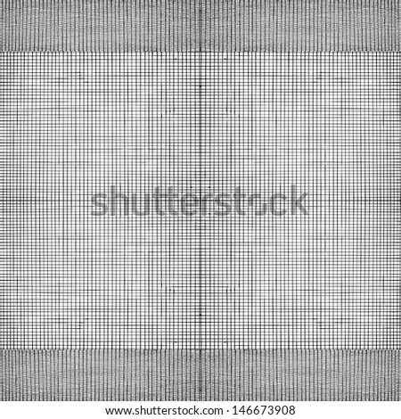 Seamless pattern with black lines crossed on white background - stock vector