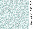 Seamless pattern with blue snowflakes. Vector illustration - stock vector