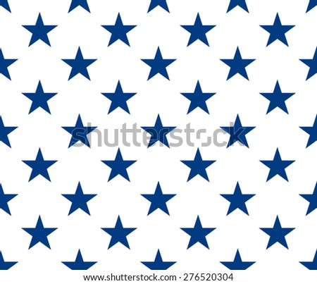 Seamless pattern with blue stars - stock vector