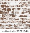 Seamless pattern with brick wall 	 - stock vector