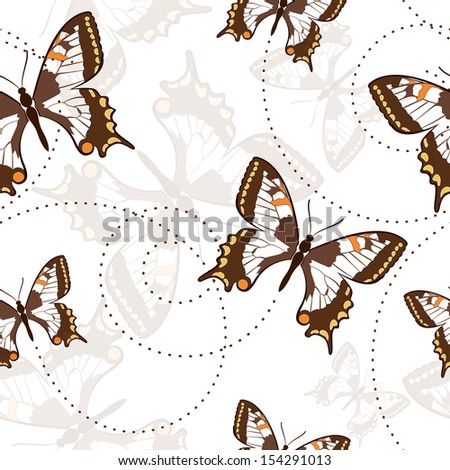 Seamless pattern with butterflies