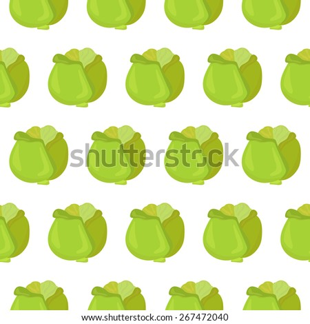 Seamless pattern with cabbage. Vector illustration