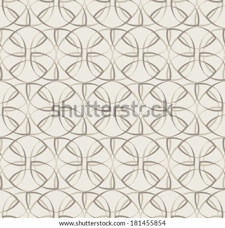 Seamless pattern with calligraphic elements. Vector abstract background.