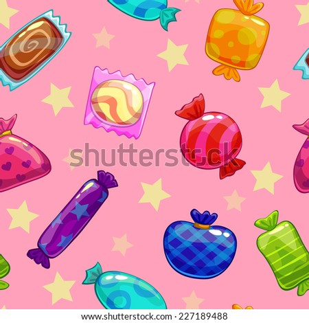 Seamless pattern with candies - stock vector