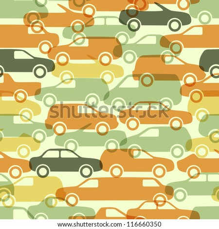 Seamless pattern with cars. Vector illustration (eps10). - stock vector