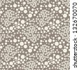 Seamless pattern with chaotic dots. Vector soft texture - stock vector