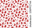 seamless pattern with Christmas elements (JPEG version available in my gallery) - stock photo